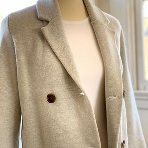 Heather grey blazer-style sweater
